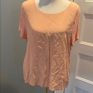 Tommy Bahama XL silk SS top peach